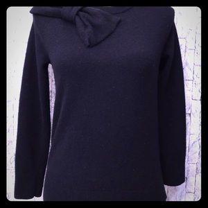 KATE SPADE Black Sweater Big Bow Detail  Size XS